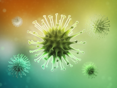 aids cell: Virus particle conceptual scientific illustration