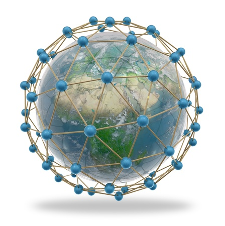 World surrounded by a network of connections