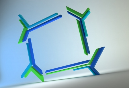 Futuristic technology 3d abstract frame  Stock Photo