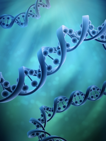 genetic research: Conceptual DNA strands - genetics research concept illustration Stock Photo