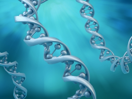 Conceptual DNA strands - genetics research concept illustration Stock Photo