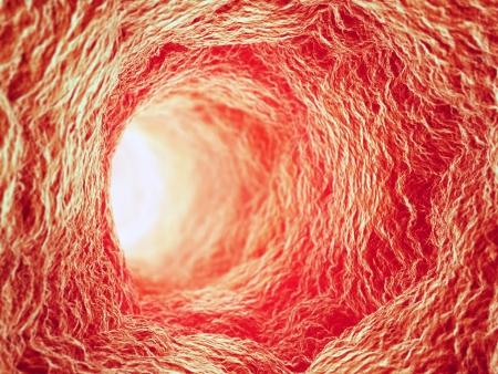 microscopisch: Binnen een bloedvat - 3d gezondheidszorg concept illustratie