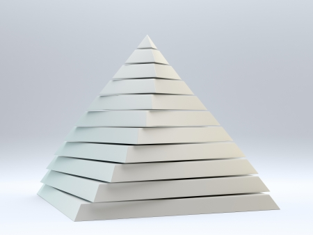 Pearly abstract 3d pyramid