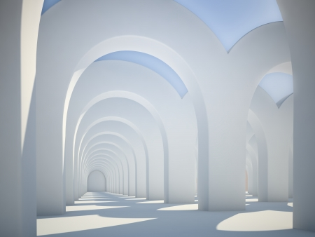 Abstract architecture - sunlit arches photo
