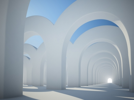 Abstract architecure - sunlit arches photo