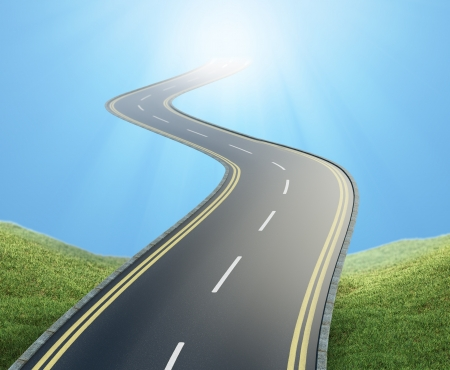 A road leading into the sky