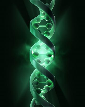 генетика: Концептуальные нитей ДНК - генетических исследований иллюстрации концепции