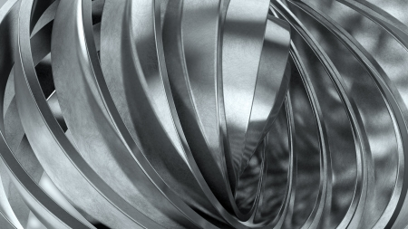 Shiny metal rings abstract background photo