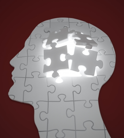 Human head build out of puzzle pieces Stock Photo - 14809927