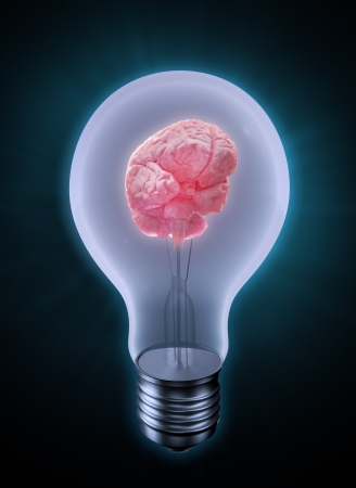 Brain in a bulb - creativity concept Stock Photo - 14806884