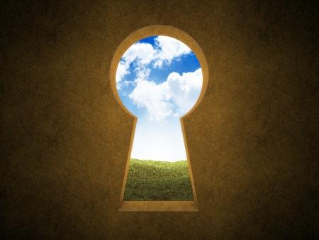 Landscape seen through a keyhole Stock Photo - 14983899