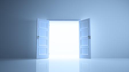abrir puertas: Sala Imagen abstracta puertas abiertas con