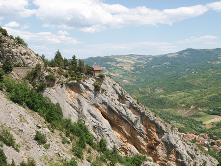 Abruzzo, Italy - June 12, 2012  typical mountain panorama landscape photo