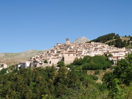 Abruzzo, Italy - June 13, 2012  Santo Stefano di Sessanio Zdjęcie Seryjne