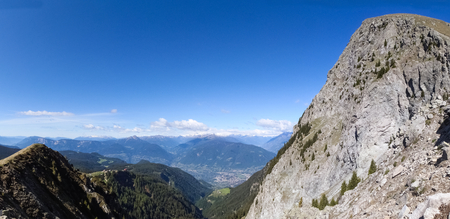 Meran, Italy  South Tyrol walking into the landscape of Alps Sarentine