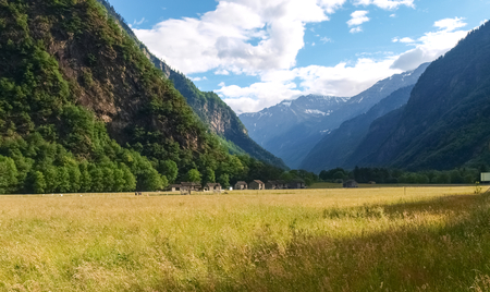 nebbia: Canton of Grisons, along the Alpine passes