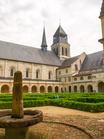 abbaye: Fontevraud, France  Along the route of the castles on the Loire River - Abbaye de Fontevraud Editorial