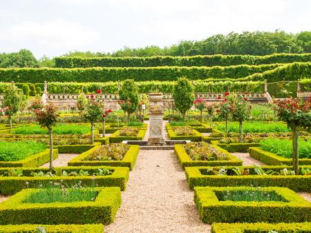 Villandry, France: Along the route of the castles on the Loire River - Ch? Teau et Jardins de Villandry Zdjęcie Seryjne