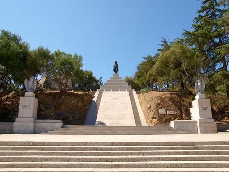 napoleon: Corse - Corsica, France - september 5, 2014: Monument to Napoleon Bonaparte