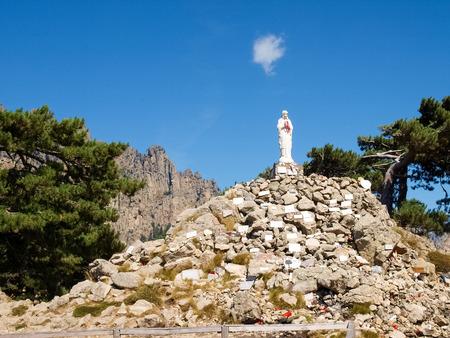 corsica: Corse - Corsica, France: Madonna on Col of Bavella Stock Photo