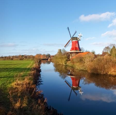 traditional windmill: Traditional Windmill Stock Photo