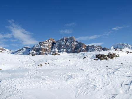 Bernardino: San Bernardino, Switzerland: Snowy winter landscape in step street closed for the cold season