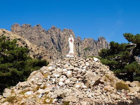 Corse - Corsica, France: Madonna on Col of Bavella Zdjęcie Seryjne