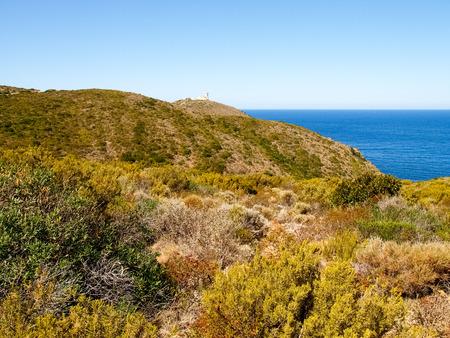 corse: Corse - Corsica, France: Image of Cap Corse, the mediterranean coast. Radar of Cap Corse Stock Photo