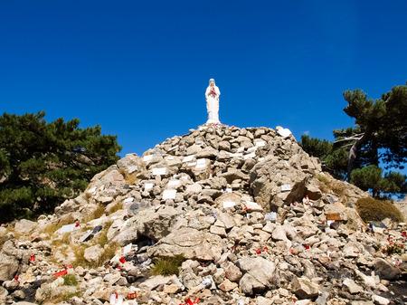 corse: Corse - Corsica, France: Madonna on Col of Bavella Stock Photo