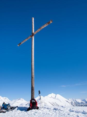 ice dam: Foisch, Switzerland - February 7, 2015: Beautiful sunny day and the snow in the Italian Switzerland. Airolo, Hut Foisch