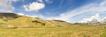 sibillini: Italy, Castelluccio di Norcia: big plan of Monti Sibillini.