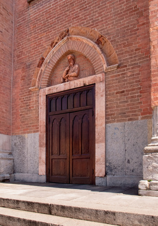 especially: Medieval church of Santa Maria del Carmine. Especially the red brick used for construction in Gothic style Lombardey.
