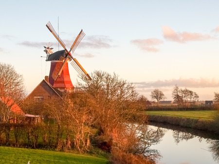 traditional windmill: Traditional Windmill working and still used to grind.