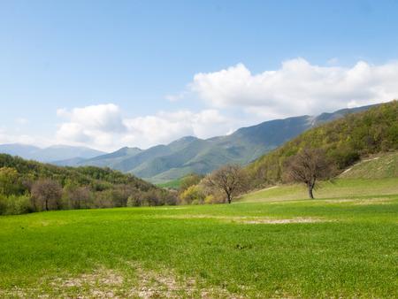 marche: Italy, Apennines Umbria, Marche, Abruzzo: Panorama of the Apennine hills Umbria-Marche-Abruzzo