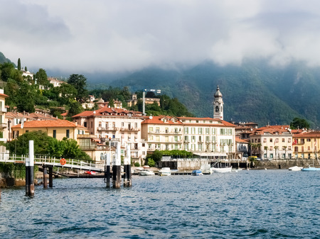 landing stage: Menaggio, Italy: Menaggio view with perspective and from the ferry landing stage