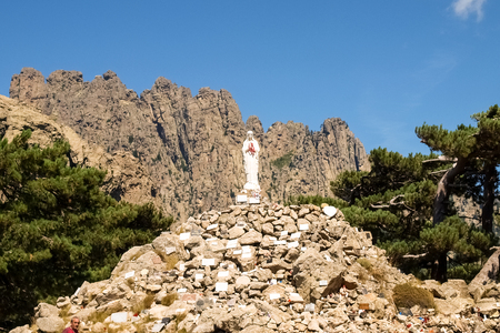 immaculate: Corse - Corsica, France: Madonna on Col of Bavella Stock Photo