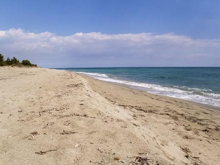 corse: Corse - Corsica, France: The country of Ghisonaccia beach. Stock Photo