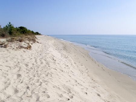 corsica: Corse - Corsica, France: The country of Ghisonaccia beach. Stock Photo