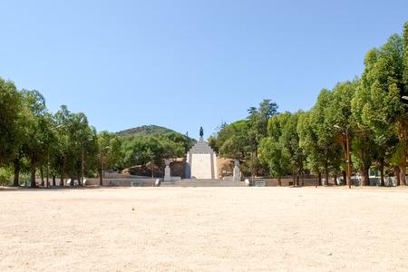 corse: Corse - Corsica, France - september 5, 2014: Monument to Napoleon Bonaparte