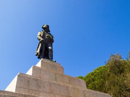 bonaparte: Corse - Corsica, France - september 5, 2014: Monument to Napoleon Bonaparte