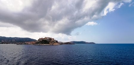 corse: Corse - Corsica, France: Town of Calvi from the ferry