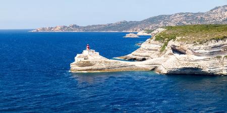 corse: Corse - Corsica, France: Image of The Lighthouse of Bonifacio Stock Photo