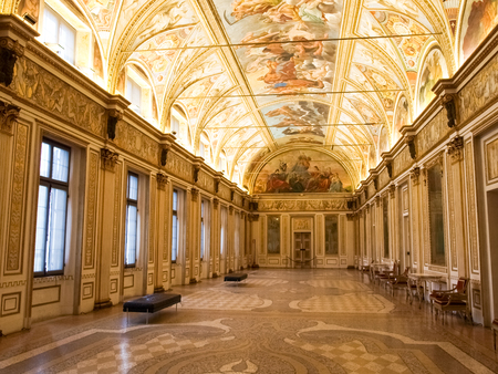ducale: Mantova, Italy - January 8, 2016: Palazzo Ducale in Mantua, also known as the Gonzaga palace, is one of the main historic buildings citizens.