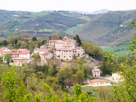Italy, Apennines Marche romagna. Road Panorama of the country. Stock Photo