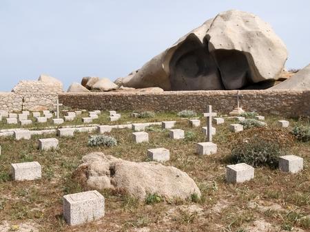 corsica: Corsica, France: Cemetery of Lavezzi on the isle