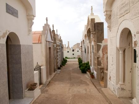 corsica: Corsica, France: Cemetery of Bonifacio on the promontory