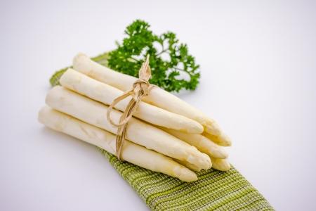 Fresh asparagus with parsley