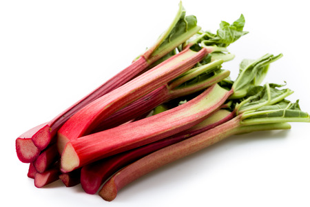 rhubarb: Rhubarb isolated on white underground