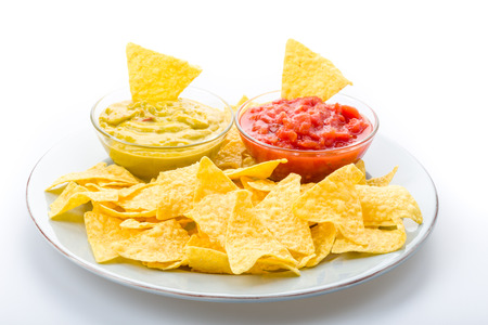 Tortilla chips with salsa to enjoy