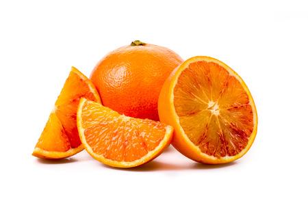 cut and blood: Blood Orange fresh cut Stock Photo